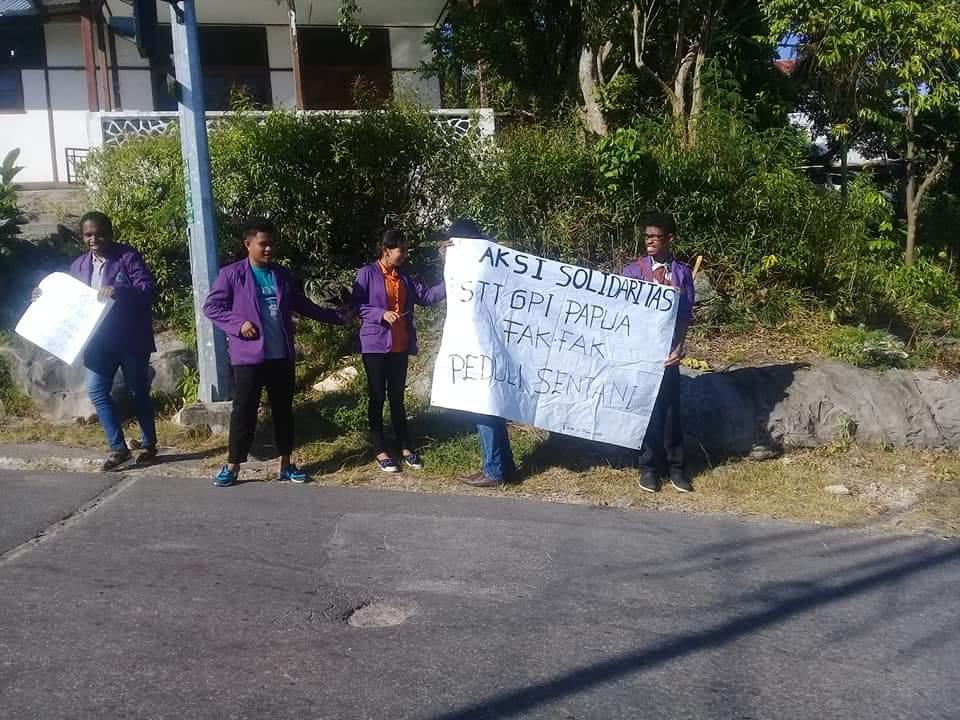 STT GPI Papua Peduli Bencana Sentai